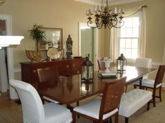 dining rooms, paint color, dine room, bench, monro bisqu