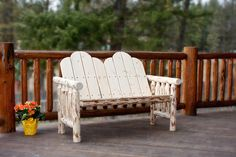 Montana Collection Deck Bench, Ready To Finish- The perfect place to relax and chat, this two person bench will surely be the place to catch up on the day's events or just watch the sun set with someone at your side.
