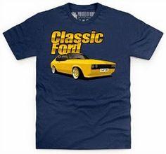 Classic Ford T-shirt featuring a Mk3 Capri