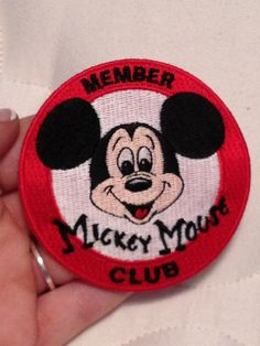 MICKEY MOUSE PATCH - Mickey Mouse Club, Iron On - Red, White, Black, Peach by rachaelerika, $5.00