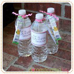teacher gifts, craft, school, stuff, gift ideas, teacher appreciation gifts, appreci gift, teachers, water bottles