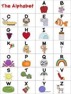 Classroom Freebies: Alphabet Chart
