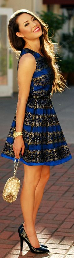 Blue Brocade by Hapa Time