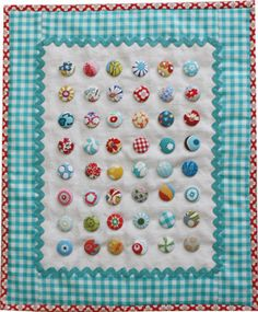 Cute wall quilt. Would look cute in a child's room.