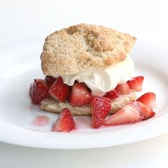 food, shortcakesweet biscuit, strawberries, delici, strawberri shortcakesweet