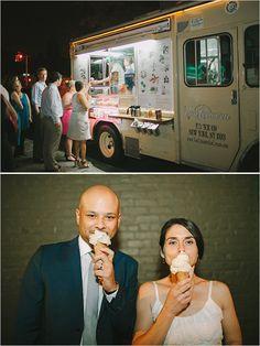 ice cream food truck at wedding