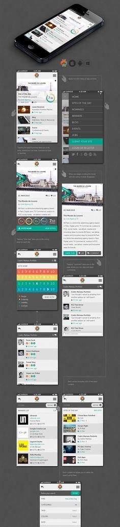 Help us Create the New Awwwards Mobile App #mobile #app #design