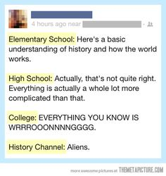Everything you know about history is wrong…