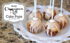 Yummy and easy to make Cinnamon Roll Cake Pops!