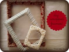 much more than the birds.: diy fabric wrapped frames