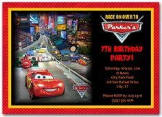 Cars Birthday Invitation | personalized cars invitation | cars birthday party  #carsinvitation #disneycarsinvitation