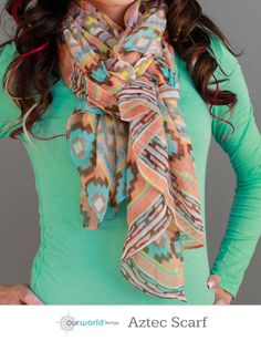 Aztec Scarf  - Santa Fe Print. 4 patterns/color combos.