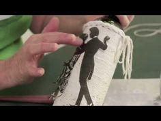 Garrafas decoradas com barbante - Reciclar com Arte