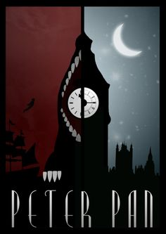 Disney-inspired movie posters from graphic designer Rowan Stocks-Moore #peter #pan #movie #poster #modern #graphic #Disney