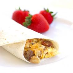 The Girl Who Ate Everything: Sausage and Egg Breakfast Burritos