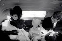 Feb, 1961-Kennedy family returning to the White House from Palm Beach after the inaugural events