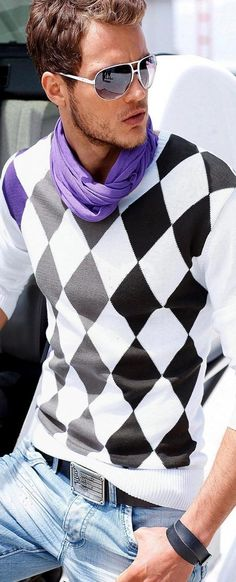 purple scraf