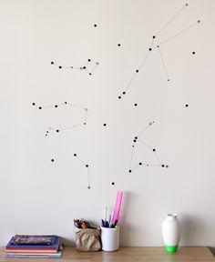 DIY: sticker star wall constellation