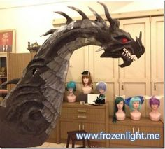 Awesome paper-mache dragon.