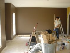 Brown Paint Color - Family Room