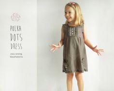 Kikoi Patterns - Polka Dot Dress - E-PATTERN