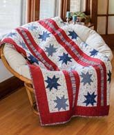 Star Spangled Beauty from Patriotic Quilts Fall 2013. Quilt by Debra Finan.