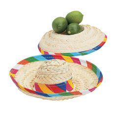 Mini Tabletop Sombreros - OrientalTrading.com - $21 per dozen