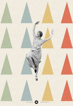 Dancing Woman - Collage by Jeff Hendrickson