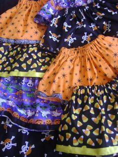 Cute and easy Halloween skirts!