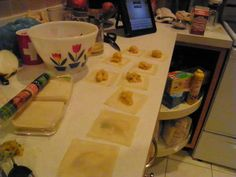 Delicious fall meal - semi-homemade butternut squash ravioli!