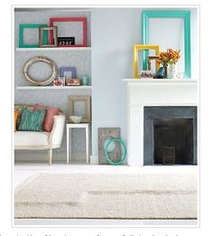 Colorful, empty frames