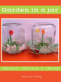 Garden in a Jar Great idea to upcycle baby food jars!