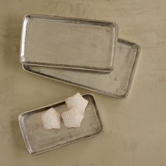 Metal Rectangular Serving Trays, Set of 3   The Company Store