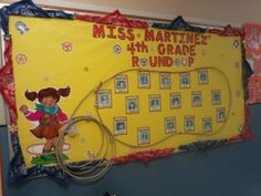 My back to school western themed bulletin board. I used bandanas and star pins as border, real rope, wanted cards with pics of the kids in my classroom (added pics 1st week of school). i loved it so much i kept it up all year long!