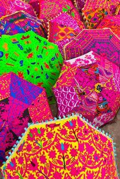 Gorgeous Umbrellas from India. ##Chai #Tea #India #Colours