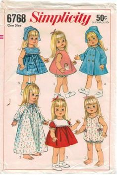 Vintage Baby Doll wardrobe for Baby First Step dolls