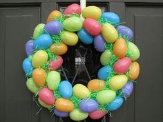 Adorable Easter Wreath made from Dollar Tree items!