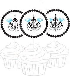 Free Printable Toppers Cupcake e etiquetas