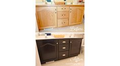 "Bathroom Cabinets Makeover . . . My First Ever ""Grown Up"" DIY Project!"