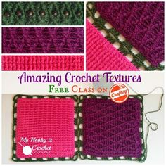 Amazing Crochet Textures, a Free Craftsy Class from The Crochet Dude. Sign up here: http://www.myhobbyiscrochet.com/2014/10/enrol-in-amazing-crochet-textures-free.html