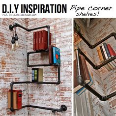 Simple But Awesome: Creative DIY Corner Shelves