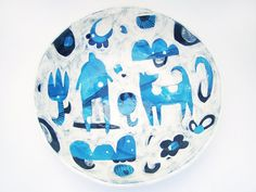 Large Serving Bowl Ceramic Serving Bowl by Susan Simonini