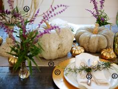Fall table from Urban Grace Interiors