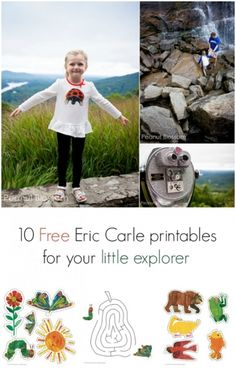 10 Free Eric Carle printables for your little explorer *so cute.
