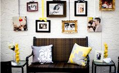 mismatched photo frames