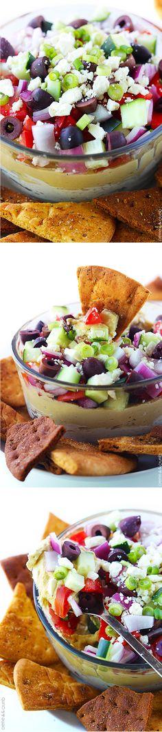 7 Layer Greek Hummus Dip