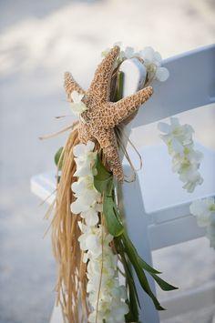 beach wedding aisle marker idea
