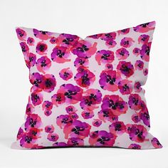 Pink Flower Cushion Pillow Cover by DENY Designs on POP.COM.AU