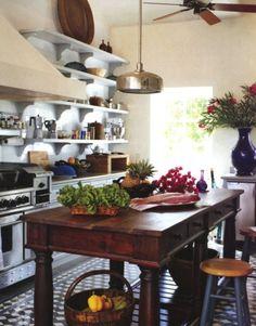 gorgeous kitchen island.