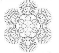 #crochet #crochet flower #pattern... to decorate a wall